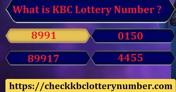 KBC Lottery Number 8991