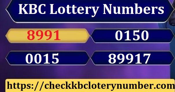 KBC Lottery Number Online