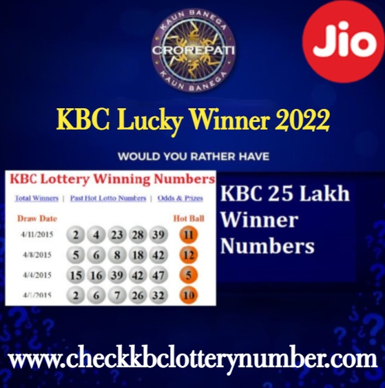 KBC Lucky Lottery Numbers